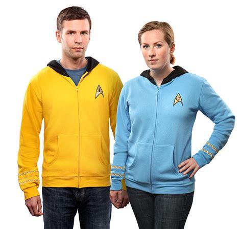 Jaket Zipper Hoodie Sweater Startrek Hitam trek the original series hoodie