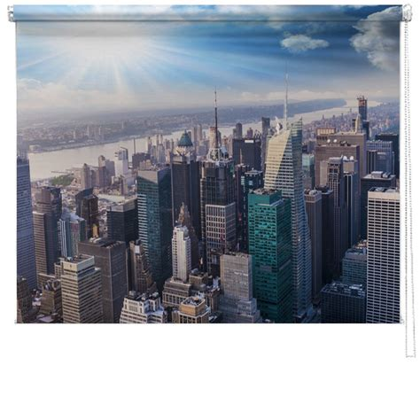 New Blinds new york skyline towers printed blind picture printed blinds at artylicious
