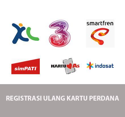 Isi Ulang Kartu Tri 50000 cara registrasi ulang atau baru kartu simpati as indosat xl smartfren dan tri