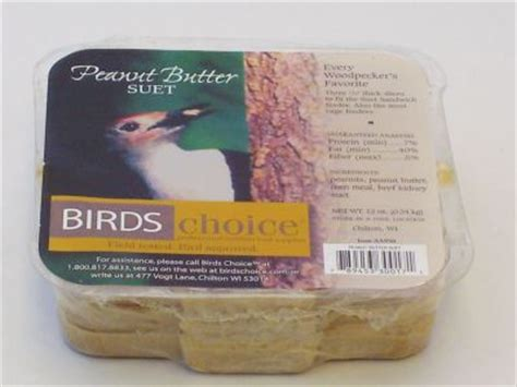 peanut butter suet 12 oz by birds choice bird seed and
