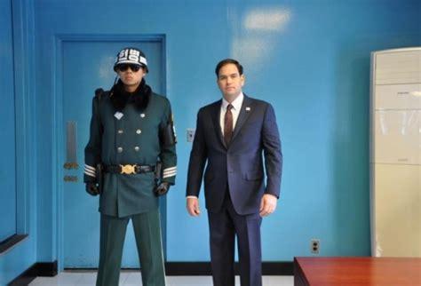 Door Guard Korea Putih marco rubio stares korean soldier ny daily news