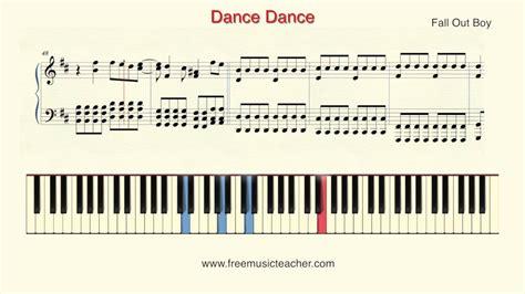 tutorial dance piano how to play piano fall out boy quot dance dance quot piano