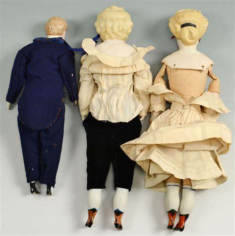 bisque fashion doll lot 654 3 bisque fashion dolls