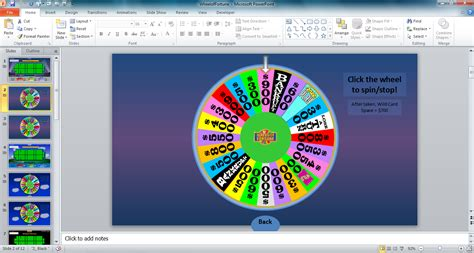 Tim S Slideshow Games Wheel Of Fortune For Powerpoint Spinning Wheel Powerpoint