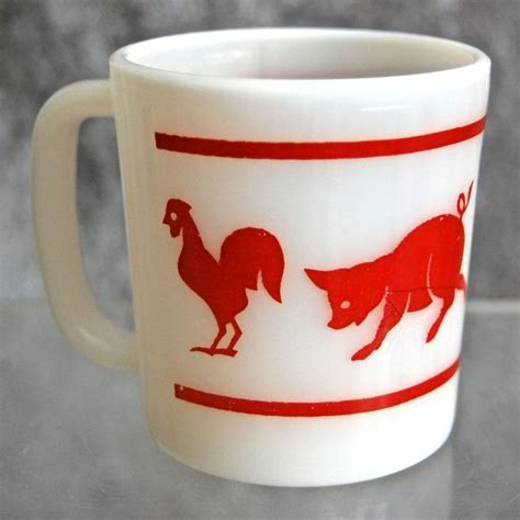 animal mug hazel atlas kiddie ware animal mug