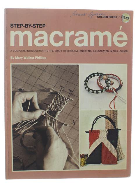 Macrame Books - 70 s vintage sewing pattern 1970 step by step macrame