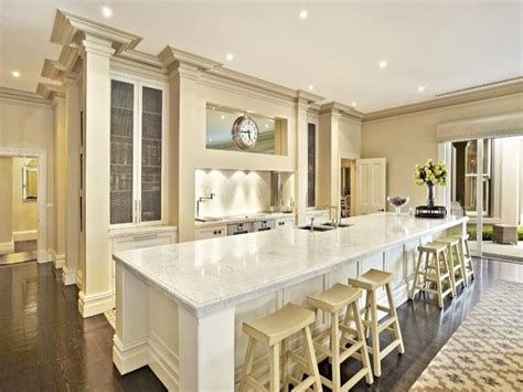 long kitchen island long kitchen island cuisina pinterest