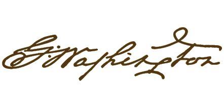 george washington signature / autograph