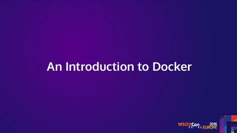docker introduction tutorial deploying wso2 middleware on containers