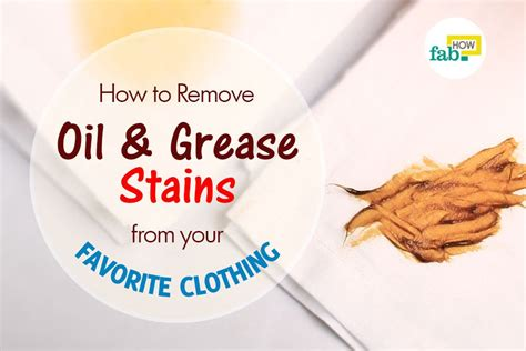 how to remove oil and grease stains from clothes