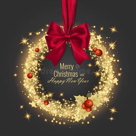 merry christmas happy  year greeting card vector illustration merry christmas happy  year