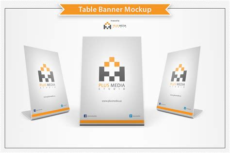 Table Banner Mockup Product Mockups On Creative Market Table Banner Template