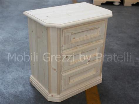 comodini in legno grezzo comodini grezzi comodino grezzo in abete massello