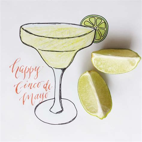 margarita illustration margarita sketch calligraphy dallas illustration
