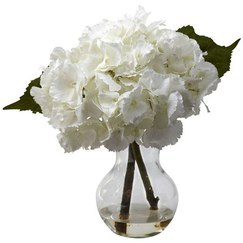 blooming vase nearly natural blooming hydrangea with vase arrangement