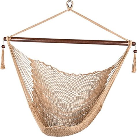cotton rope swing prime garden deluxe cotton rope swing chair tan