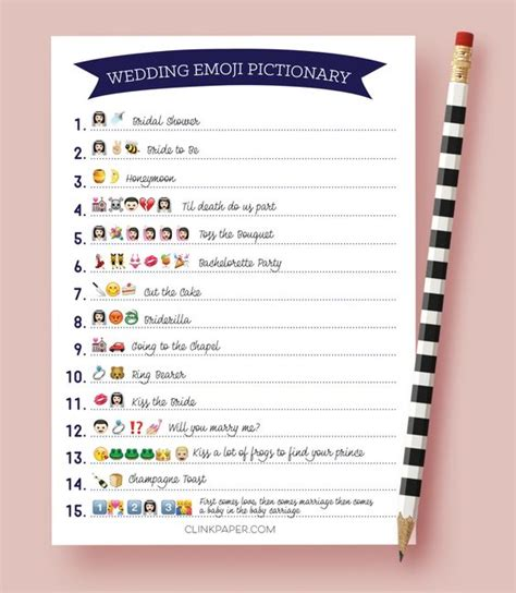 printable emoji games the original wedding emoji pictionary bridal shower game
