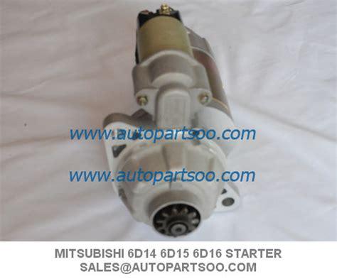 Dinamo Starter Mitsubishi Fuso 6d14 6d15 Fuso Fighter 1 starter motor for mitsubishi 6d14 6d15 6d16 twoo auto industrial limited