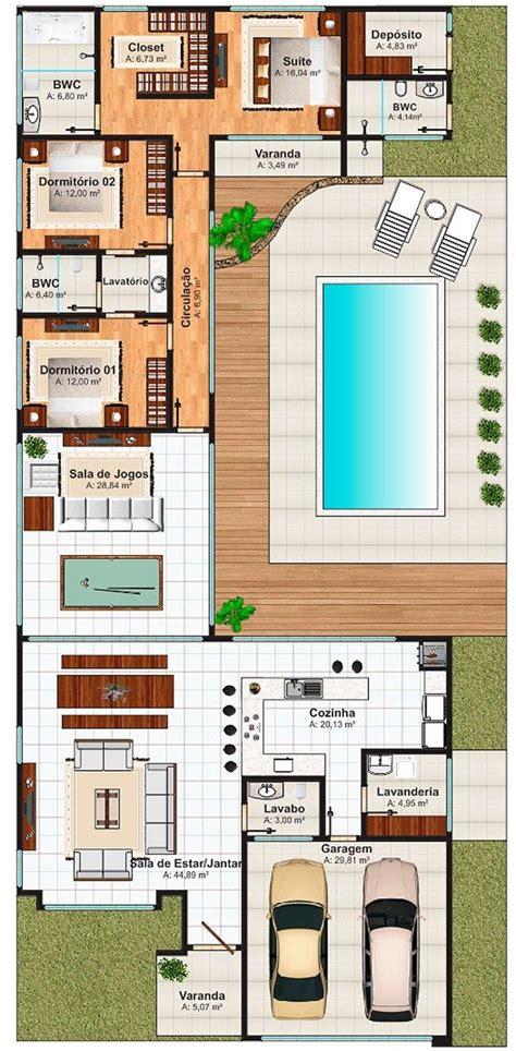 two l casas em l 63 projetos com plantas e fotos para se inspirar