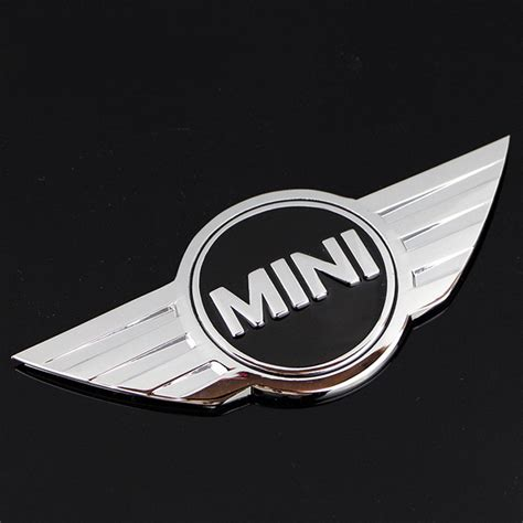 Indonesia 3d Sticker Emblem mini cooper logo 3d car stickers metal emblems for mini car front badge logo with 3m sticker for