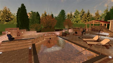 patio pool and spa landscape design software gallery
