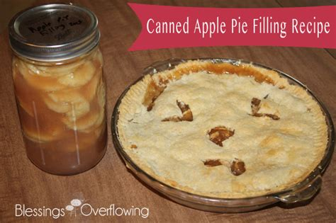canned apple pie filling recipe blessings overflowing
