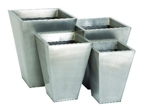 Silver Planters by Silver Planters Galvanized Steel Planters