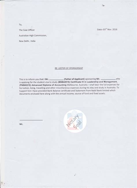 Support Letter For F1 Visa Affidavit Of Support Letter For Student Visa Docoments