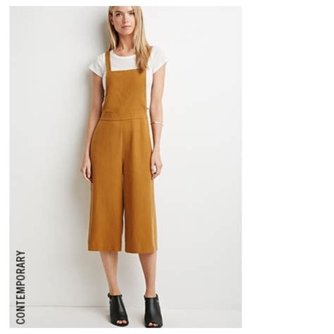 Overall Cullote forever 21 mustard culottes overalls from sheela s