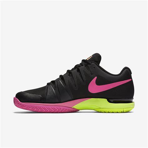 nike womens zoom vapor 9 5 tennis shoes black volt pink