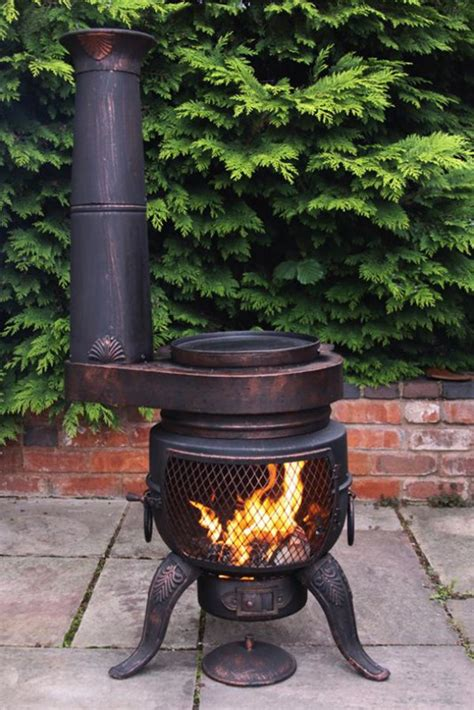 Chiminea With Grill by Cast Iron Chimenea Chiminea Stove Converts To Barbeque