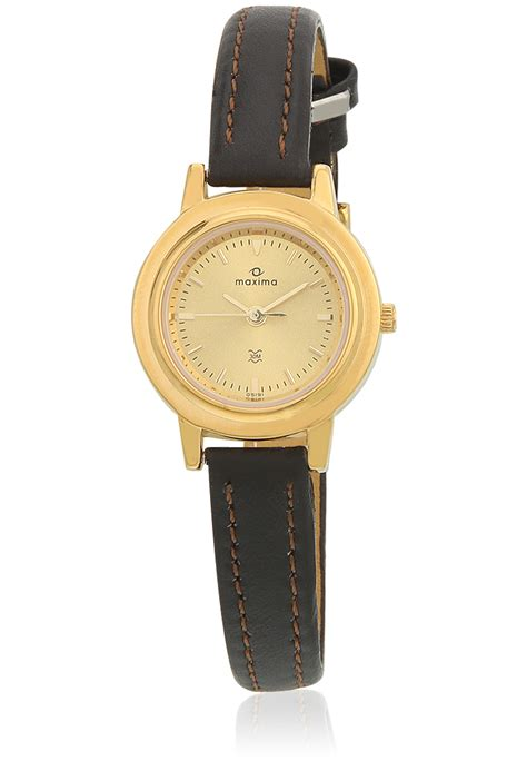 maxima gold analogue watches 05191lmly for prices