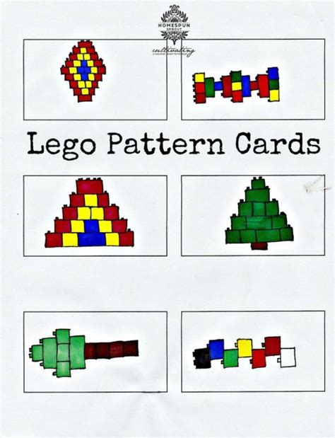 lego pattern ideas lego pattern cards kids will love copying these lego
