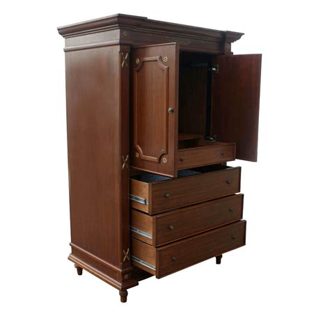 traditional armoire custom made traditional mahogany armoire ebay