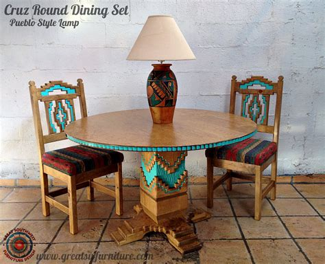 southwest dining room furniture cruz southwest style round dining set tables chairs