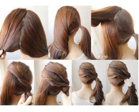 diy ponytail haircut for medium length hair cute ponytails for shoulder length hair google search