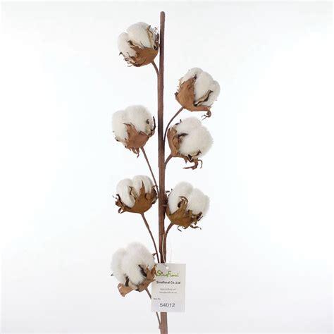 Magnolia Home Decor Artificial Cotton Flower Branch