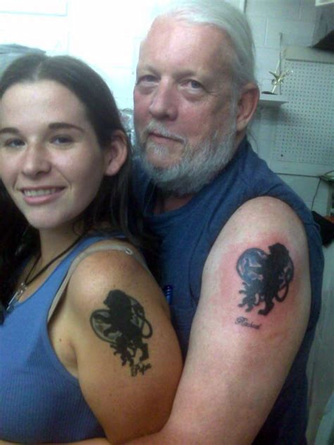 matching father daughter tattoos 50 awesome matching tattoos amazing ideas