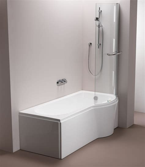 shower bath 1500 pura arco pbsblh15 puracast left shower bath 1500 x 850mm uk bathroom store
