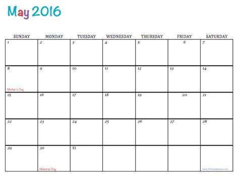 free may calendar template free printable 2016 calendars