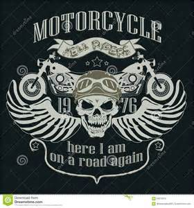 motorcycle graphics templates motorcycle design template logo skull rider stock
