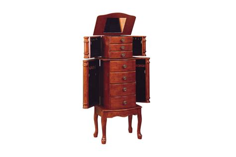 powell cherry jewelry armoire classic cherry jewelry armoire powell 881 315 at gardner white
