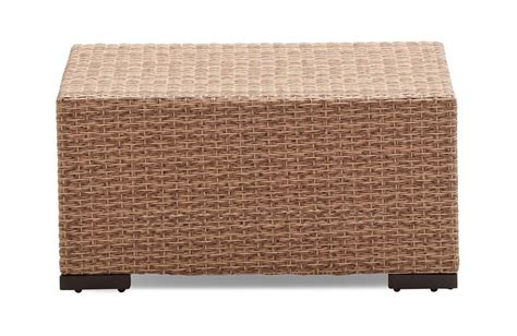 outdoor wicker ottoman strathwood griffen all weather wicker ottoman outdoor