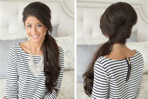 types of pony tail with a roll 10 types of astonishing side ponytail for women