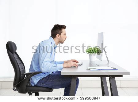 better posture sitting at desk sitting posture stock images royalty free images