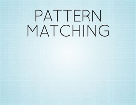 python pattern matching numbers functional pattern matching on python