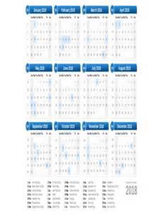 Calendar Pages 2018 2018 Calendar Printable One Page Calendar Template 2016