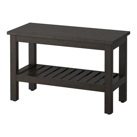 benches ikea hemnes bench black brown stain 83 cm ikea