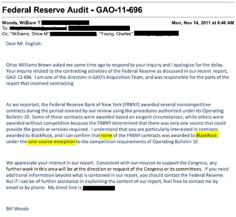 Thank You Letter For Audit On Dimon S Quot Favor Quot To The Fed Stearns Shenanigans Revisited Zero Hedge