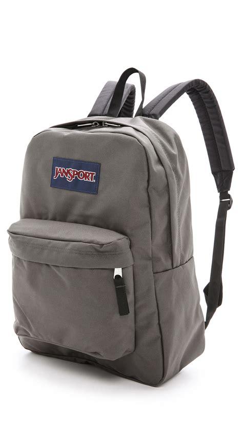 lyst jansport superbreak backpack in gray for